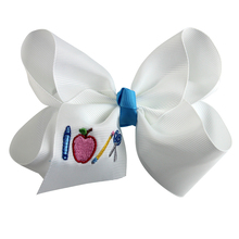 4 inch Back To School Bows, Gift, Accessories Pencil Bow Personalized Hair Handmade embroidery