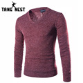 2017 New Arrival Men's V-Neck Sweater Casual Comfortable Solid Color Sweater Men Soft Fit Slim Pullover Plus 7 Colors MZL598