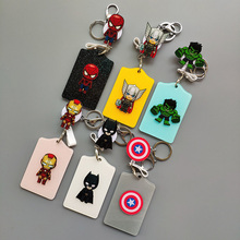 MARVEL New ABS Cartoon Superhero Name Credit Card Holders Bank Card Retractable Id Card Bus ID Holders Identity Badge Keychain недорого