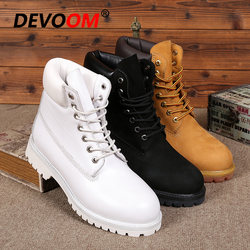 Logo Customization White Boots 2020 Men Genuine Dr Leather Boots Footwear Fur Unisex Snow Boots Men Winter Shoes Real Leather
