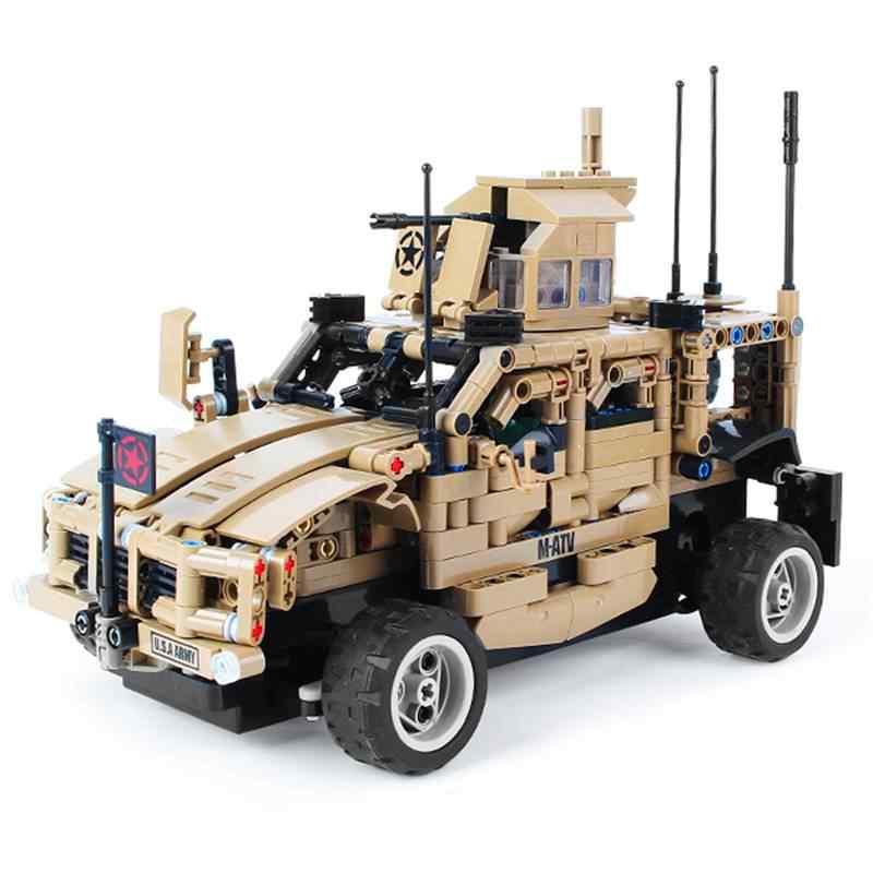 MoFun MZ6001 1/12 2.4G 4CH 653PCS DIY Monteren Baksteen Blok RC Auto Kinderen Speelgoed
