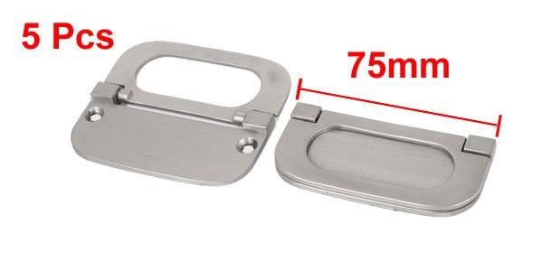 Cupboard Cabinet Drawer Metal Flush Mount Door Pull Handle Silver ...