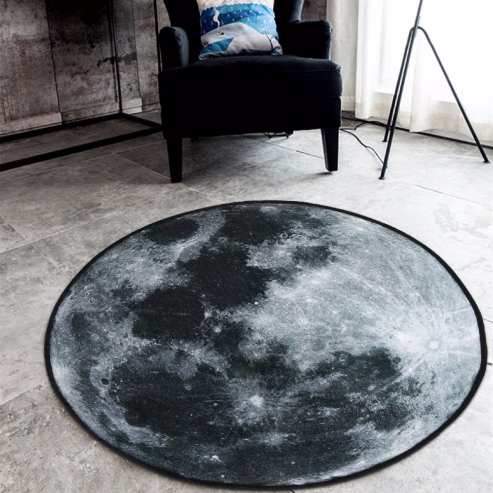 3d earth round carpet rug soft fleece carpet 80 100 120cm for Fleece tapete