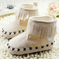 Factory Price! Khaki Black Pink Toddler Ankle Boots Baby Girls Tassel Booties SIZE 1-18M 18