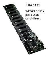 B250 htc LGA1151 16 г DDR3 SATA3.0 12 x PCI E X16 карты прямой разъем Материнские платы розетки добыча материнская плата