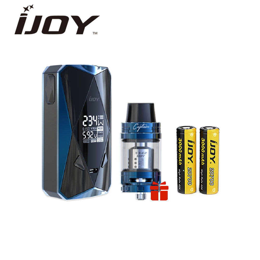 Original IJOY Diamond PD270 234W TC Kit 6000mAh 20700 Battery with 2ml Captain Mini Tank & 234W Diomond Box MOD E-cig Vape Kit 3 4 dn15 sanitary stainless steel ball valve 2 way 316 quick install food grade pneumatic valve double acting straight way