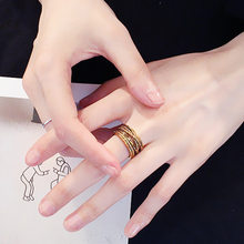 2019 Hot Sale Hand Jewelry Men's Ring Personality Retro Hemp Rope Ring Student Gift Korea single ring opening men ring(China)