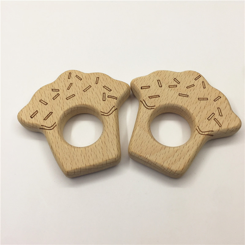 set of 3pcs,beech wood crafts,cake,cow,owl,surface laser printing,wood teething for baby boy gift chew toys.hot!Free shipping!