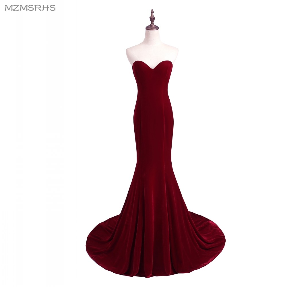 Unik Designer Burgundy Mermaid Prom Dresses 2015 Women Long Train - Särskilda tillfällen klänningar - Foto 1