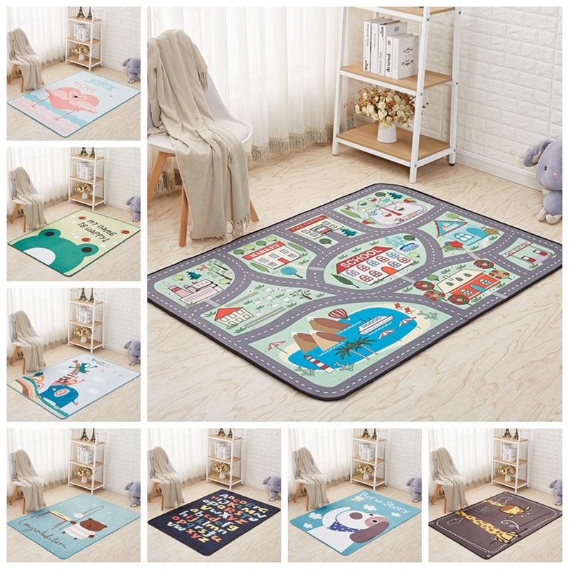 Tapis enfants dessin animé mignon animaux enfants jouer tapis enfants ramper couverture tapis et tapis pour la maison salon enfants chambre décor tapis