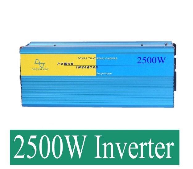 цена на 2500W Sinus-Wechselrichter 2500W Peak 5000W Pure Sine Wave Inverter 12/24/12V to 230/230VAC 2500W Pure Sinus Inverter