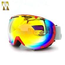 Сноуборд Лыжные Очки 2 Двойной Слой Большой Spectacal Анти Туман мотокросс esqui мужчины женщины лыжах Очки