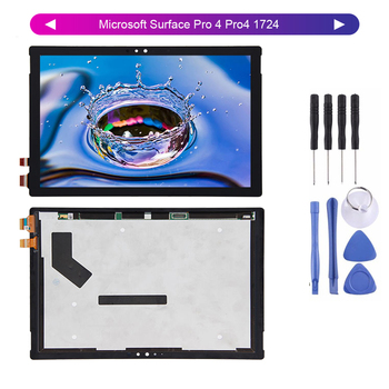 For Microsoft Surface Pro 4 Pro4 1724 LTN123YL01-001 LCD Display Screen Digitizer Touch Panel Glass Assembly + Tools