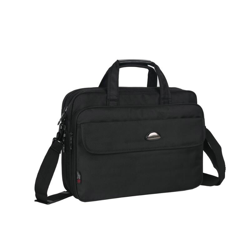 15.6 Inch Business Large Briefcase Men Laptop Conference Portable Nylon Shoulder Document Bag Bolsa Masculina