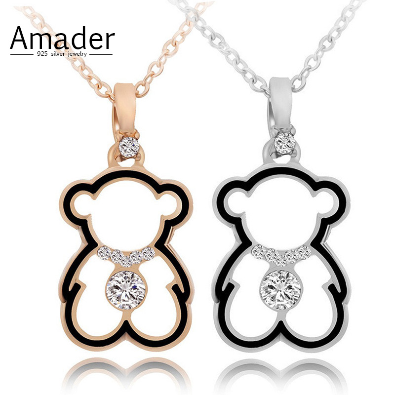 Amader Fashion Crystal Necklace Lovely Gold Color Hollow Beas