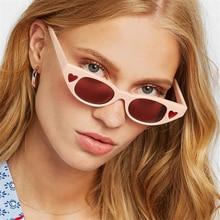 Euro-American fashion sunglasses with small frames, individuality, love sunglasses, Retro-Vintage baggage glasses,UV400