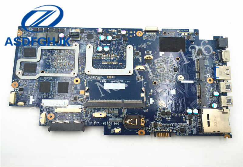 Laptop Motherboard for clevo W350ET FOR Raytheon for Hasee K590S-I7 K590S  Motherboard 6-71-W3700-D03 DD3RL Non-integrated 100% t