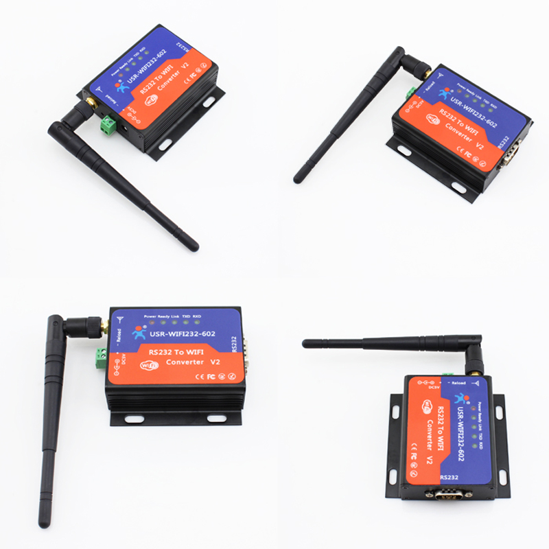 USR-WIFI232-602V2 Direct Factory Serial RS232 to Wireless /WIFI Server Converter Embedded Wifi Module freeshipping rs232 to zigbee wireless module 1 6km cc2530 chip