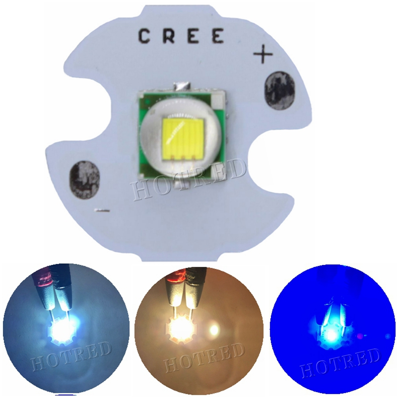 1PCS CREE XML XM-L T6 LED U2 10W Cold White Warm White Blue UV High Power LED Emitter Diode With 14mm 16mm 20mm 25mm PCB For DIY