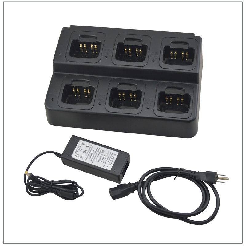 6 Way Rapid Charger Six way Multi-charger Universal Rapid for Motorola HT750,HT1250,GP328,GP340,GP380(For Li-ion and Ni-MH both)