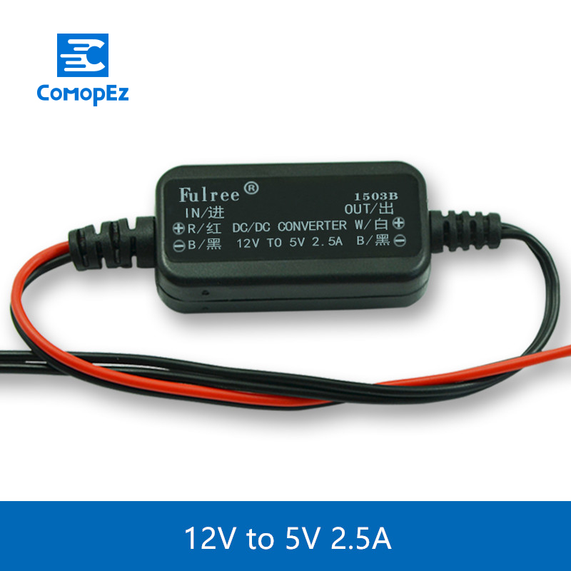 12V to 5V 2 5A Step Down DC DC Converters Waterproof Auto Protection Vehicular Power Car Led Power DC Converter Regulator in Inverters Converters from Home Improvement
