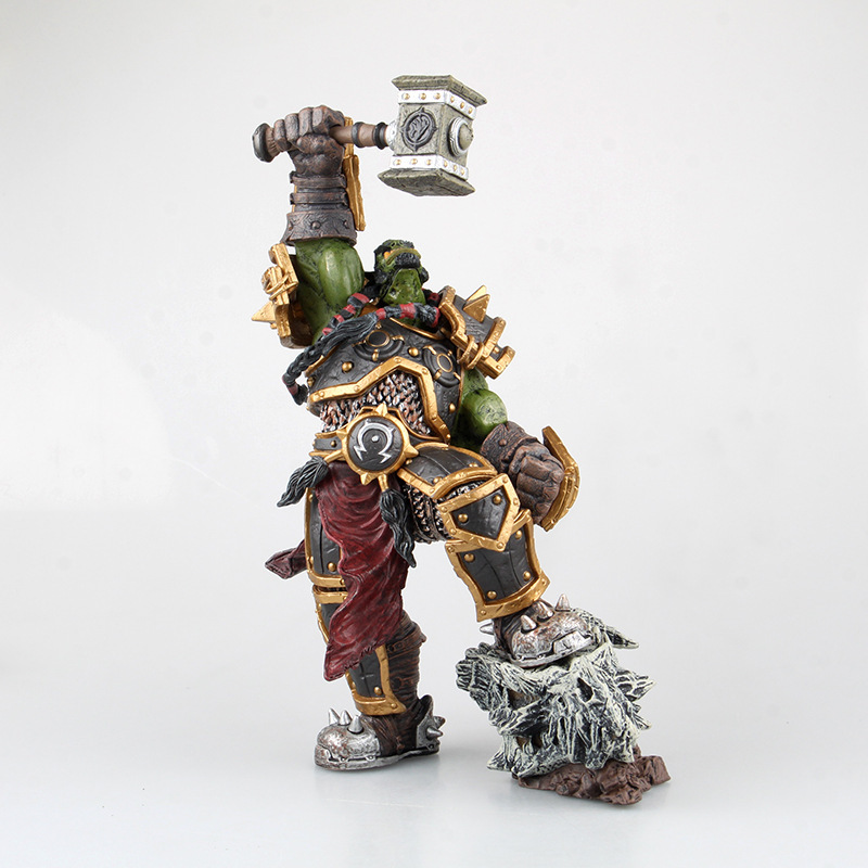 XINDUPLAN NEW Dota 2 Thrall Go'el Doomhammer Frostwolf Clan Ainme Action Figure Toys Game 26cm 1Pcs PVC Collection Model 0363 new vertex dwell gold coin elf tiki 1 1 rpg cute game dragon s crown adventure result 16cm action figure toys