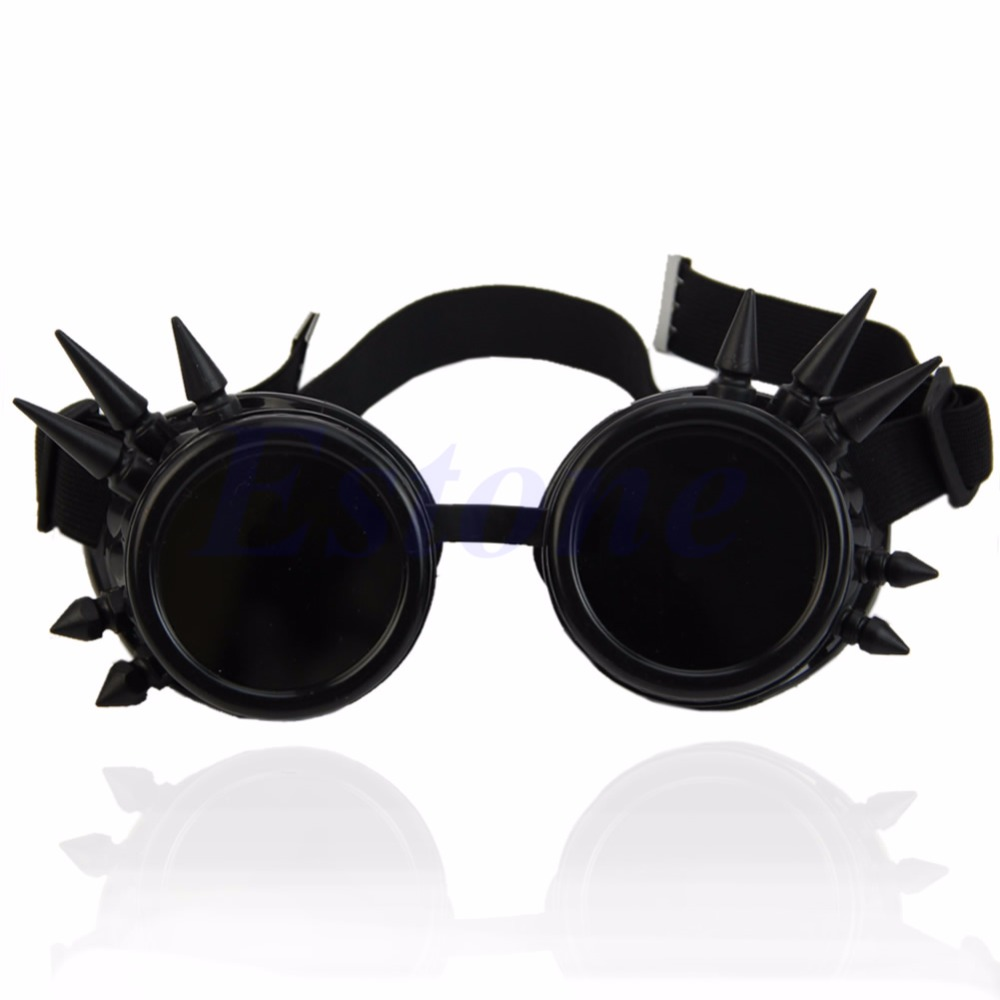 Cosplay Vintage Victorian Rivet Steampunk Goggles Glasses Welding Cyber Gothic New hot sell