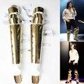 Rare MJ Michael Jackson Classic Oro Hecho A Mano Historia Pierna Matel Guardia Rodillera Armadura Concierto Etapa Danza de Salón de baile