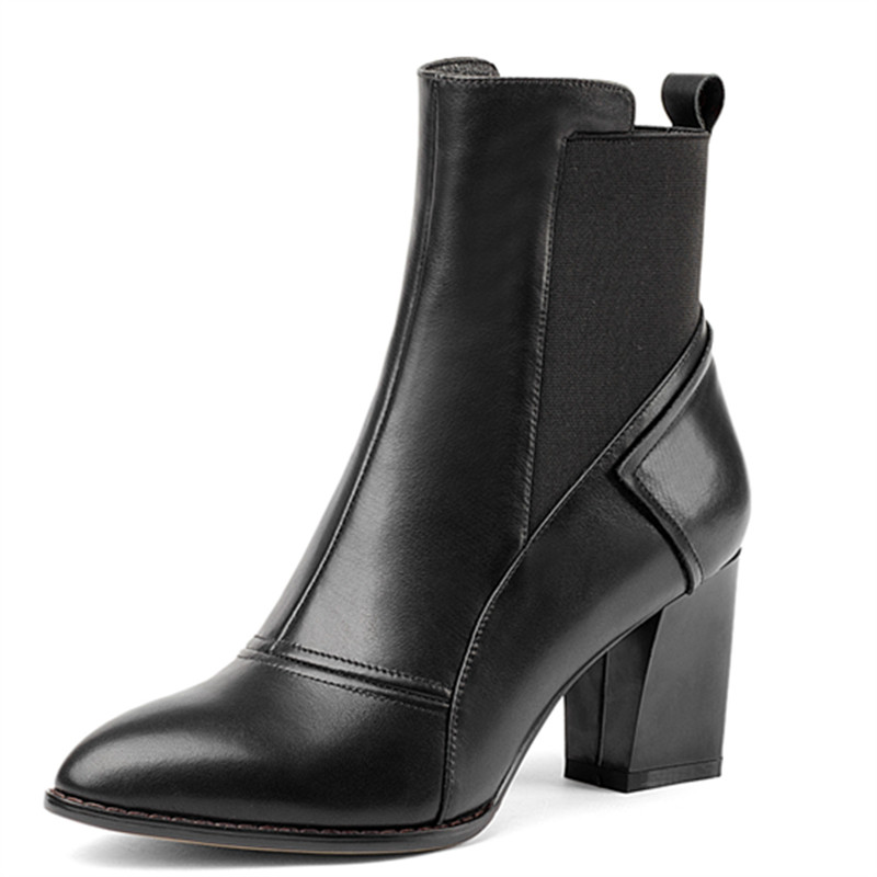 LOVEXSS Woman Autumn Winter Platform Ankle Boots Fashion Plus Size 33 43 Martin Boots Black Gray Green High Heeled Shoes lovexss woman genuine leather ankle boots autumn winter high heeled shoes fashion plus size 32 43 black work chelsea boots