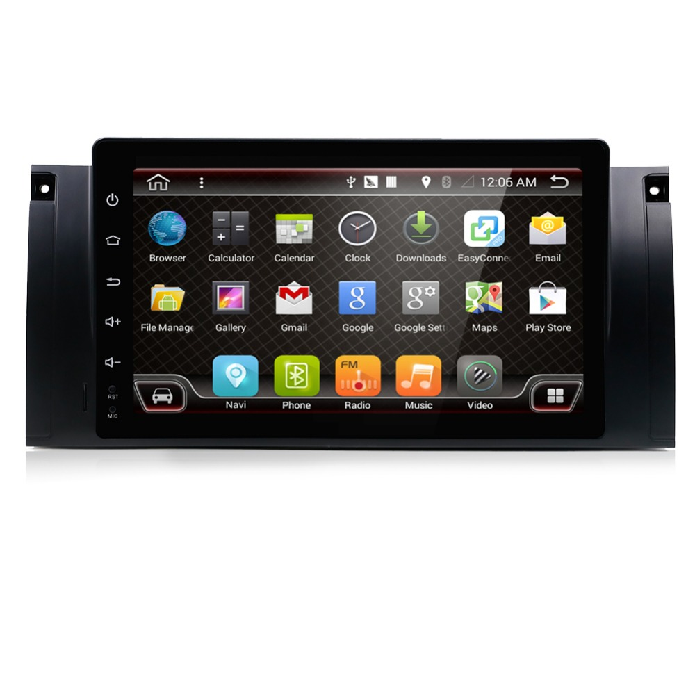 9 pouces Android 7.1 pour bmw E39 voiture dvd multimédia avec gps, wifi, 4G, radio RDS, canbus, 2 GB RAM, quad core, 1024x600, support russie