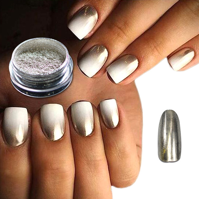 1 caja moda uñas brillo polvo luz oro espejo efecto cromo pigmento decoración de uñas brillo para uñas TR #01-12