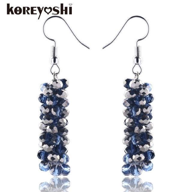 Elegant Charming Design Handmade Crystal Beaded Earrings Beautiful Bride Wedding For Women Boucle D