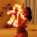80 cm juguete luz intermitente, led tie teddy bear juguete de felpa, Cumpleaños de los niños almohada oso de peluche de juguete de regalo Lindo LED glow con altavoz/música