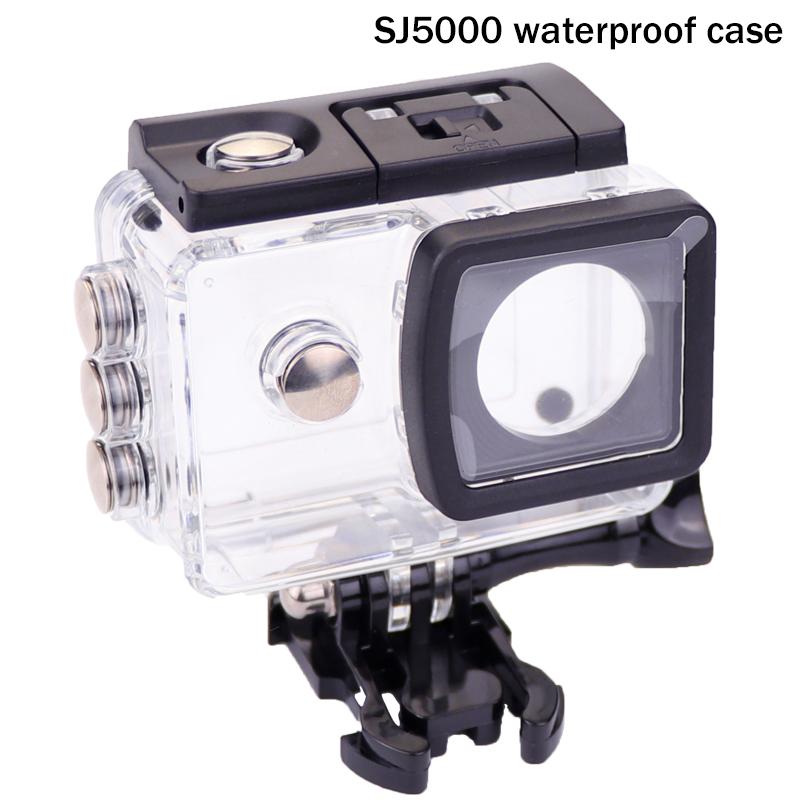 Prix pour NOUVELLE D'origine SJCAM SJ5000 boîtier étanche mount adapter pour sj 5000 wifi sj5000 plus sj5000 + camera action accessoires