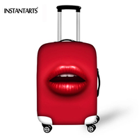 INSTANTARTS Elastic Stretch Trolley Case For 18 30 Inch Suitcase 3D Sexy Lip Print DustProof Luggage