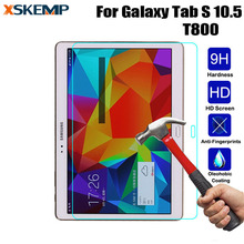 """LCD מגן מסך שקוף עבור Samsung Galaxy Tab S 10.5 """"SM T800 T805 הוכחה פיצוץ 0.3 מ""""מ סרט HD מזג הזכוכית פרימיום Slim"""