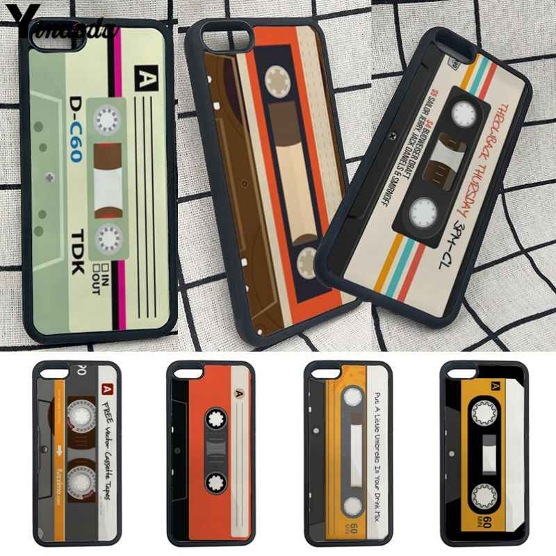 Yinuoda Audio Cassette Tpu Soft Rubber Case Cover For Iphone
