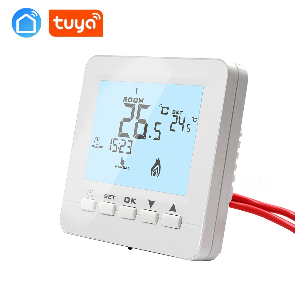 Tuya APP Electric Actuator, Smart Phone Radiator WiFi Thermostat Floor Heating System For Warm Floor