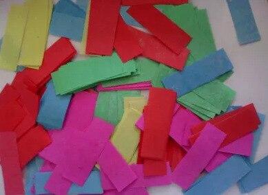 Красочные retangular огнезащитной Бумага конфетти растрепанные Бумага 2*5 см 25 кг за лот Fedex