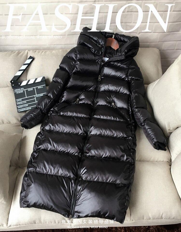 grosso quente longo casaco de inverno com