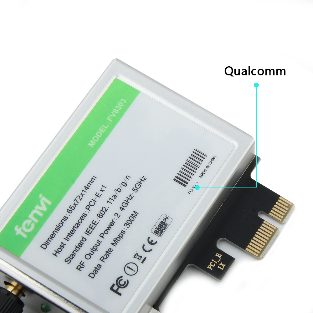 Image 4 - 600Mbps Dual band Wireless Wifi Adapter Desktop WLan WiFi Bluetooth BT 4.0 802.11 a/b/g/n PCI Express 1X/8X/16X Card-in Network Cards from Computer & Office