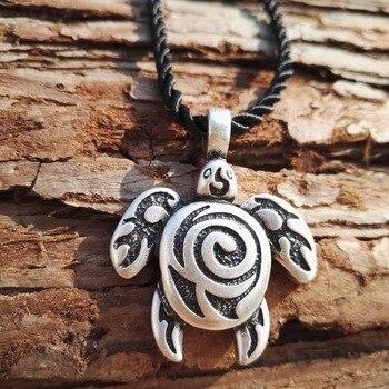 argento antico placcato sea turtle pendente della tartaruga collana gioielli tribali  1