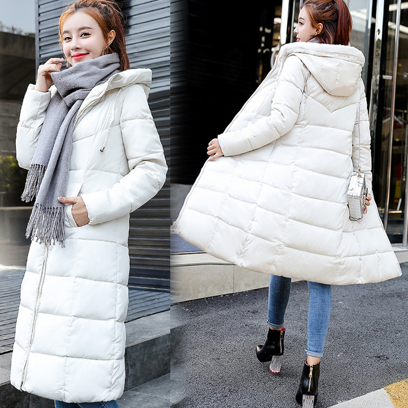 New   parkas   mujer 2018 Winter Women Jacket X-long   Parka   jacket Casual waterproof warm Hooded Jacket coat outwear Plus size M-6XL