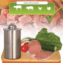 1,5 Liter Edelstahl Schinken Maker/Schinken Fleisch Walzmaschine mit ein Thermometer Schinken Kessel Fleisch Topf Pan Druck Schinken Herd