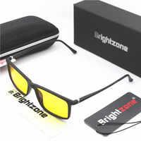 Brightzone New TR90 Rim + Aluminum Legs Blue Light Blocking Glasses | Premium Gamer & Computer Eyewear Eye Strain Relief Goggles