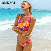 OMKAGI Brand Brazilian Bikini 2017 Swimsuit Swimwear Women Sexy Push Up Bathing Suit Beachwear Bikinis Set