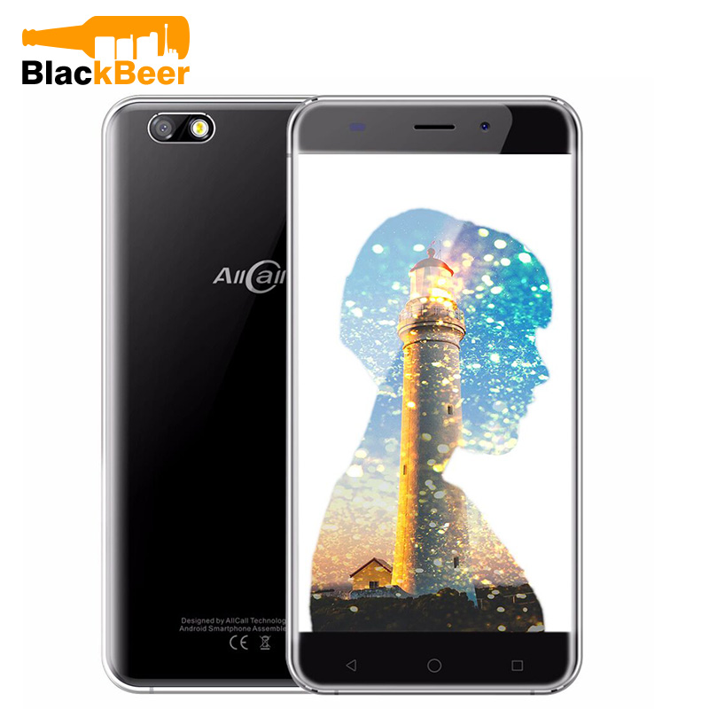Allcall Madrid Android Phone 1GB+8GB 5.5 inch 3G Smartphone Android 7.0 MTK6580A Quad Core 2600mAh 8MP Camera Mobile Phone