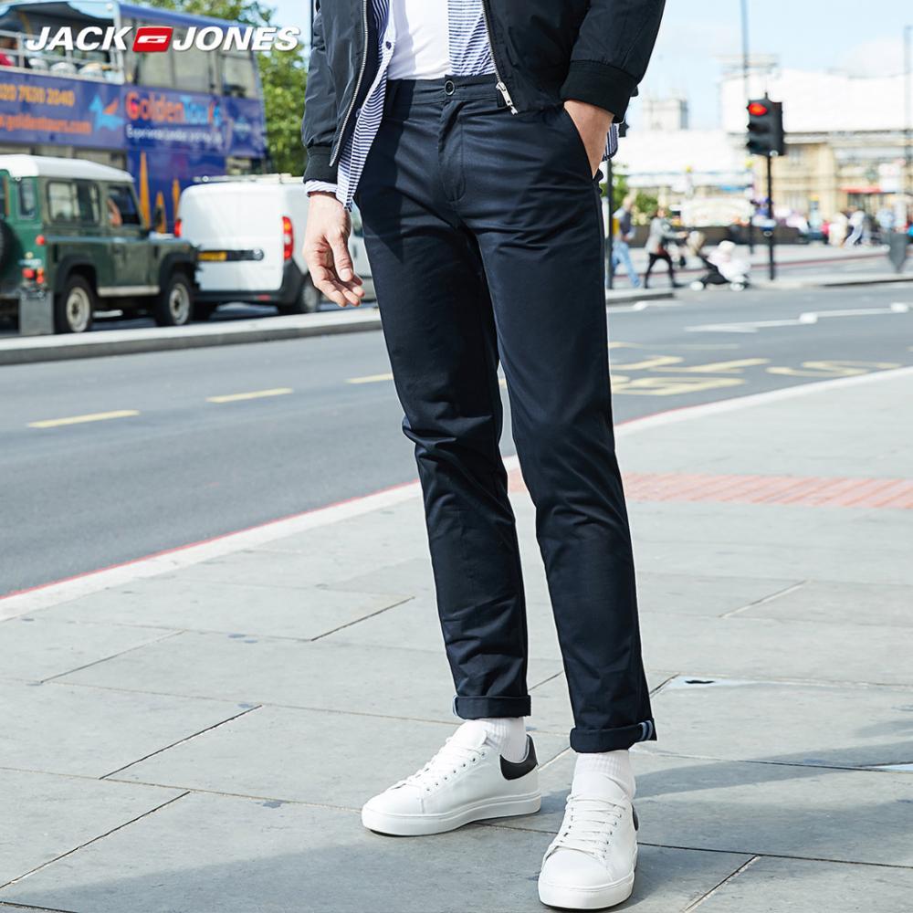 JackJones hombres Lycra y tela elástica de algodón comodidad transpirable negocio inteligente pantalones casuales Pantalones Slim Fit Ropa   218314502  