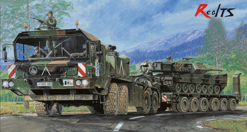 panzer 56 - Trumpeter 00203 1/35 Faun elefant SLT-56 panzer transporter