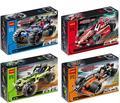 2015 nueva súper ventas decool 3411 guerrero todoterreno racer tire hacia atrás de la técnica car Building Block Sets juguetes P399